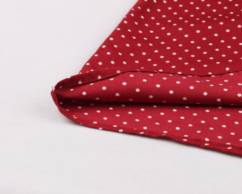 Red Polka Dot Button Up Vintage Dress