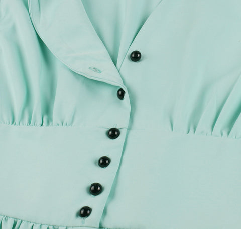 Mint Button Up Vintage Dress