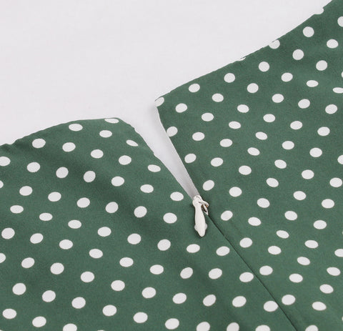 Green Polka Dot Vintage Dress