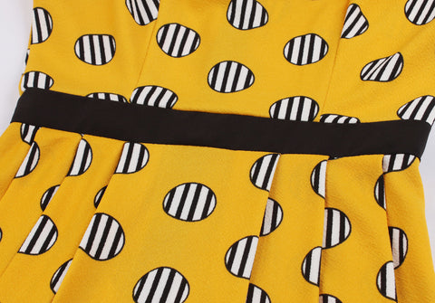 Black Yellow Vintage Dress
