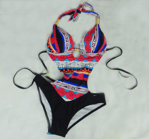 Bohemia Print Swimsuit Swimwear Bathing Suite One Piece