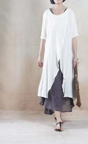 Linen Top in White