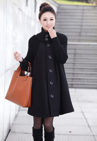 Black Wool Coat Jacket