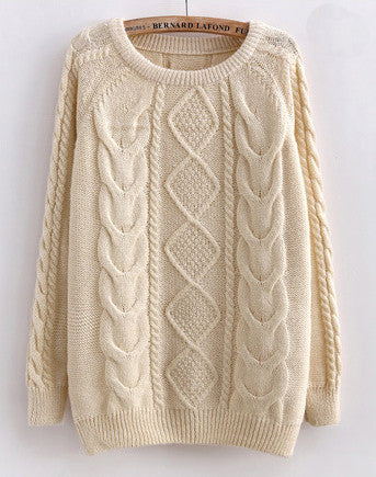 Creamy Cabled Sweater
