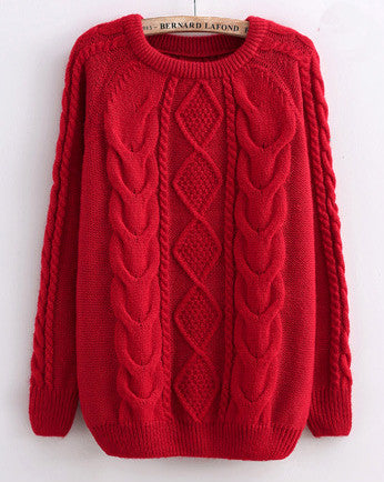 Red Cabled Sweater