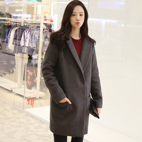 Coat Outerwear Jacket in Gray