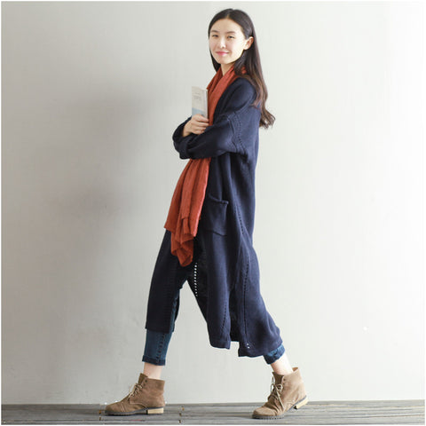 Navy Blue Sweater Cardigan