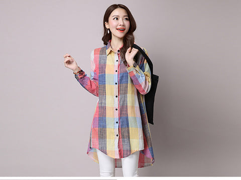 Colorful Squares Long Shirt