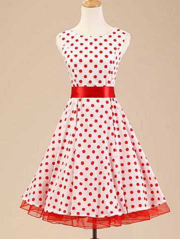 Red and White Polka Dot Vintage Dress