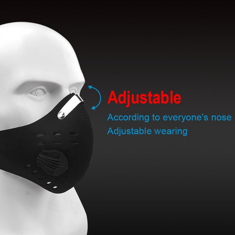 Unisex Neoprene Reusable Sports Face Mask with Filter and Respirators for pollen allergy, outdoor activities and construction