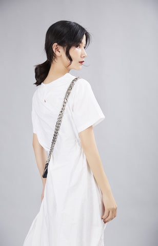 White irregular dress