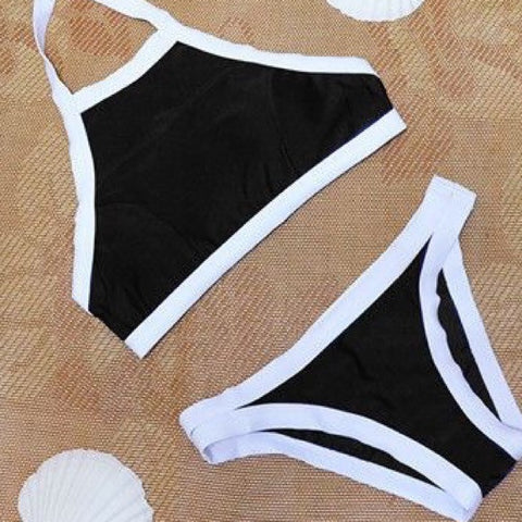 Black and White Bikini Set