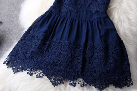 Lace Dress In Navy Blue