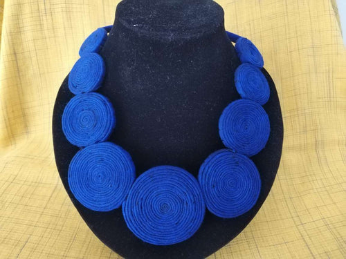 Necklace (Blue fabric)