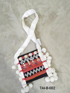 Lahu Traditional Crossbody White Bag