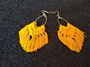 Hand-made Cotton Thread Earring