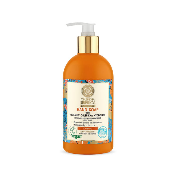 Softening Hand Soap with Organic Oblepikha Hydrolate