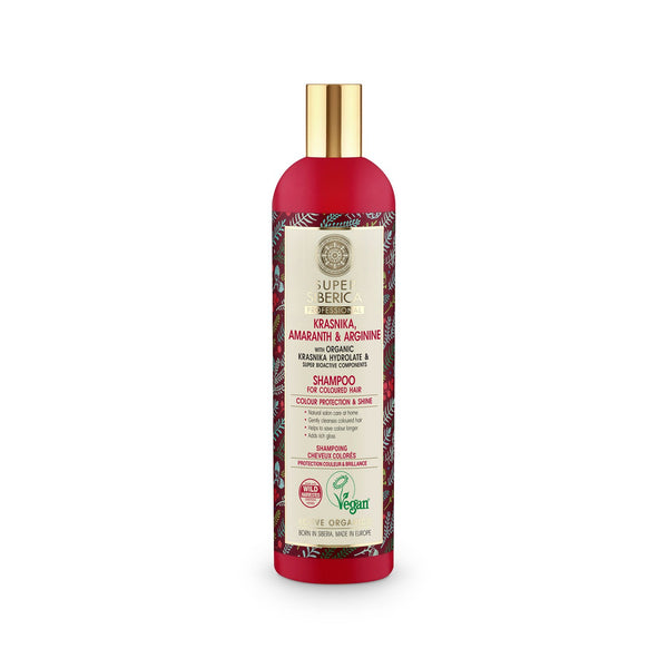 Super Siberica Krasnika, amaranth & arginine. Shampoo for Coloured Hair
