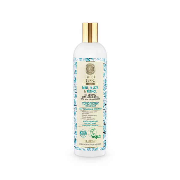 Super Siberica Mint, bereza & retinol. Conditioner for Oily Hair