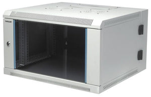 "19"" Double-Section Wallmount Rack, 15U Image 1"