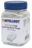 100-Pack Cat6 RJ45 Modular Plugs Packaging Image 2
