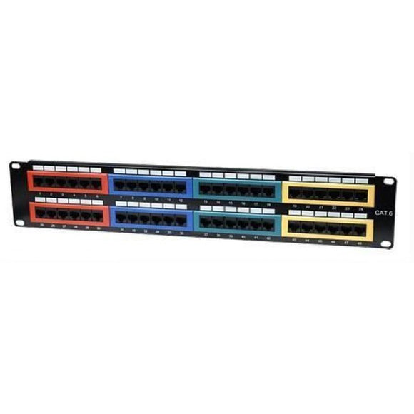 Cat6 Color-Coded Patch Panel Image 1