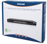 24-Port Gigabit Ethernet PoE+ Layer2+ Managed Switch with 10 GbE Uplink Packaging Image 2