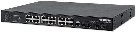 24-Port Gigabit Ethernet PoE+ Layer2+ Managed Switch with 10 GbE Uplink Image 1