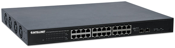 24-Port Gigabit Ethernet PoE+ Switch with 10 GbE Uplink Image 1