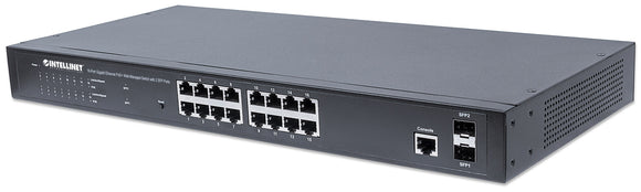 16-Port Gigabit Ethernet PoE+ Web-Managed Switch with 2 SFP Ports Image 1
