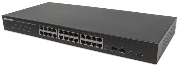 24-Port Gigabit Ethernet Switch with 10 GbE Uplink Image 1