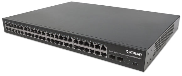 48-Port Gigabit Ethernet Switch with 10 GbE Uplink Image 1
