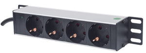"10"" 1U Rackmount 4-Output Power Distribution Unit (PDU) Image 1"