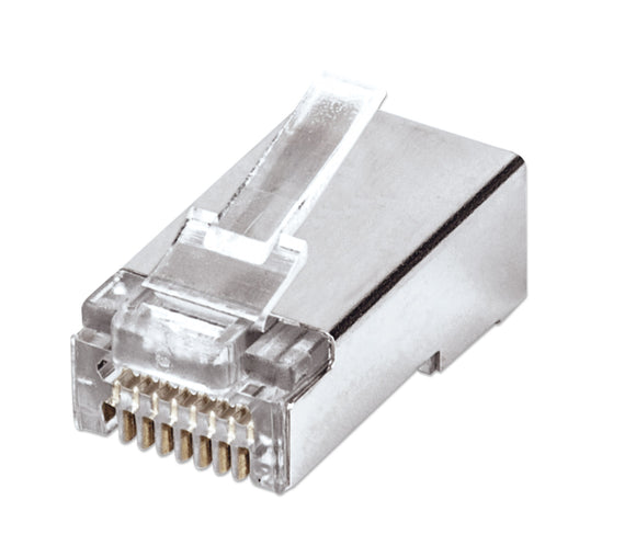 100-Pack FastCrimp Cat5e RJ45 Modular Plugs Image 1