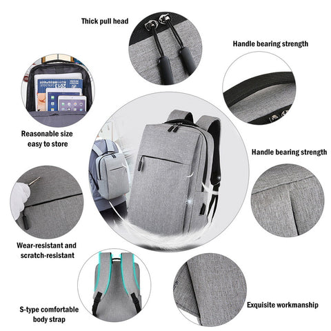 Laptop USB Travel Backpack