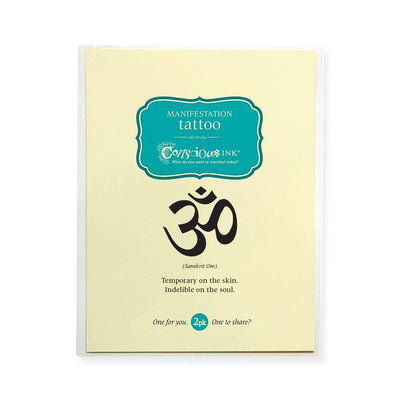 Conscious Ink Temporary Tattoo - OM (Sanskrit)
