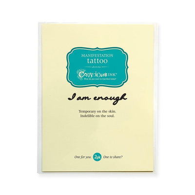 Conscious Ink Temporary Tattoo - I Am Enough