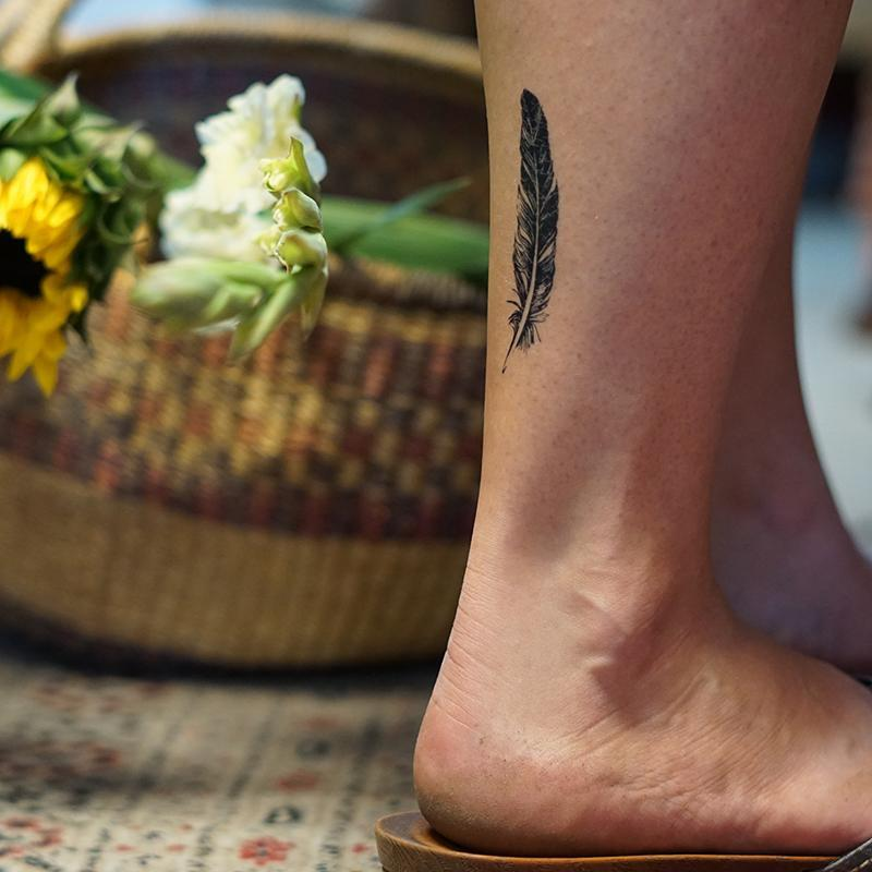 Conscious Ink Temporary Tattoo - Feather