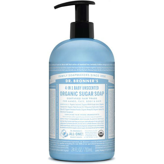 Dr. Bronner's Organic Sugar Soap - Unscented