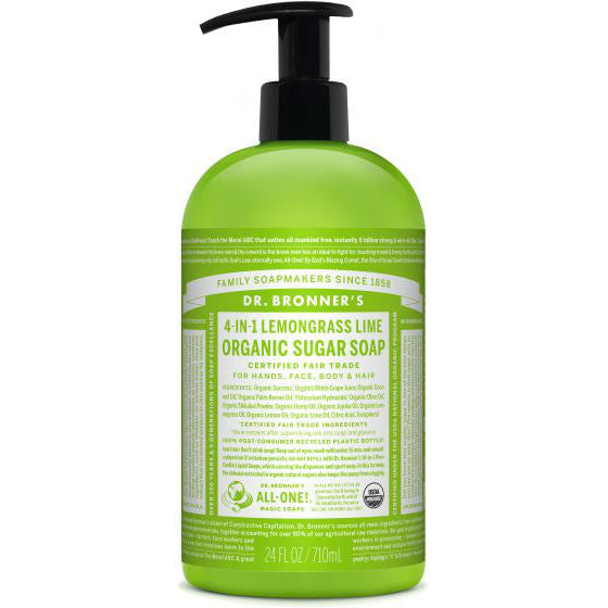 Dr. Bronner's Organic Sugar Soap - Lemongrass Lime