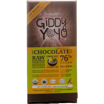 Giddy YoYo Raw Chocolate - Limon Salt