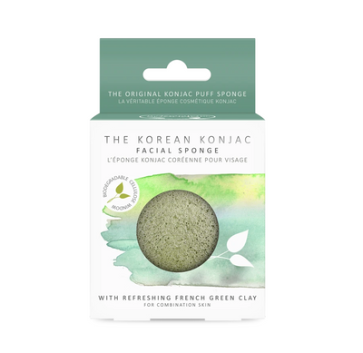 Konjac Premium Facial Sponge with French Green Clay