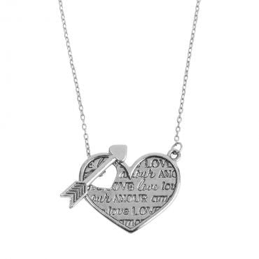 Foxy Originals - Amour Necklace in Silver