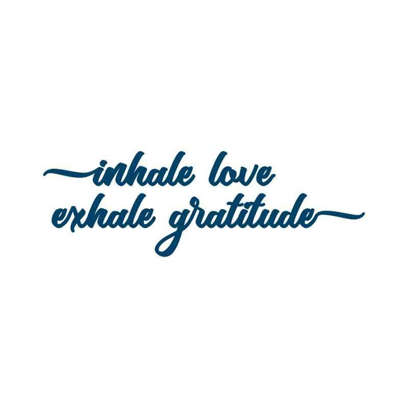 Conscious Ink Temporary Tattoo - Inhale Love Exhale Gratitude