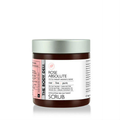 THE BODY DELI - Exfoliating Sea Salt Body Scrub in Rose Absolute