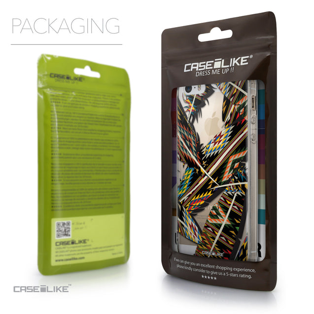Packaging - CASEiLIKE Apple iPhone 5GS back cover Indian 2053 Tribal Theme Pattern