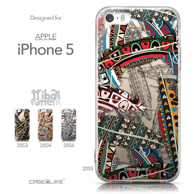 Collection - CASEiLIKE Apple iPhone 5GS back cover Indian 2055 Tribal Theme Pattern