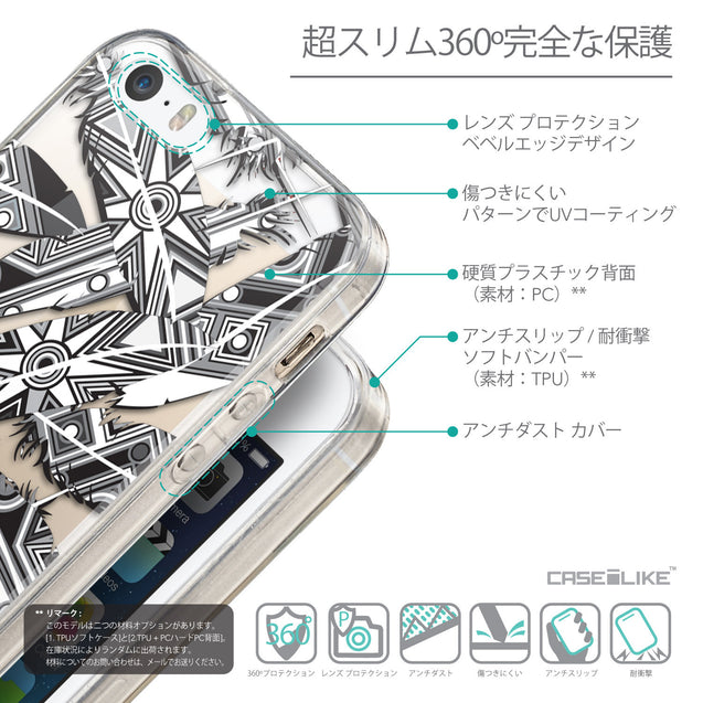 Details in Japanese - CASEiLIKE Apple iPhone 5GS back cover Indian 2056 Tribal Theme Pattern