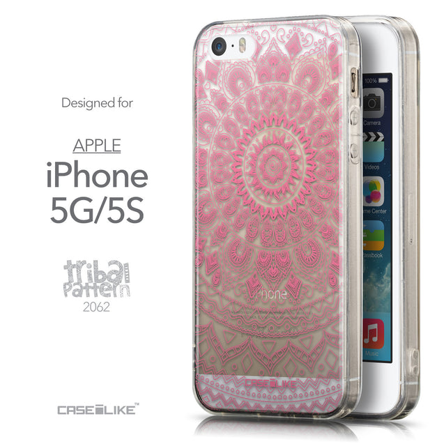 Front & Side View - CASEiLIKE Apple iPhone 5GS back cover Indian Line Art 2062