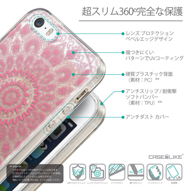 Details in Japanese - CASEiLIKE Apple iPhone 5GS back cover Indian Line Art 2062